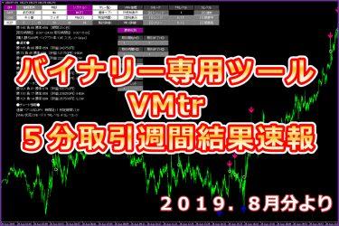 完全無裁量バイナリーツール【VMtr】週間結果速報5分取引